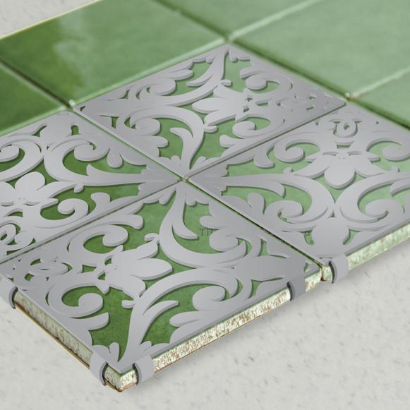 Green Glazed Ceramic Tile